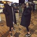 2016 de Invierno de Corea Del Sur Color Puro wide-waisted Thicked Pan Forma de Cremallera y Bolsillo de La Decoración Femenina Abajo (con Sombrero) YMA-001