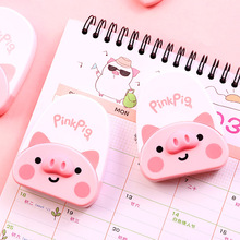 Pink Pig Decoration Correction Tape Decorative tape sticker stationery office school supplies Promotional Gift 8 colors self adhesive acrylic tape rhinestones scrapbook craft tape bling decoration school office supplies stationery gift