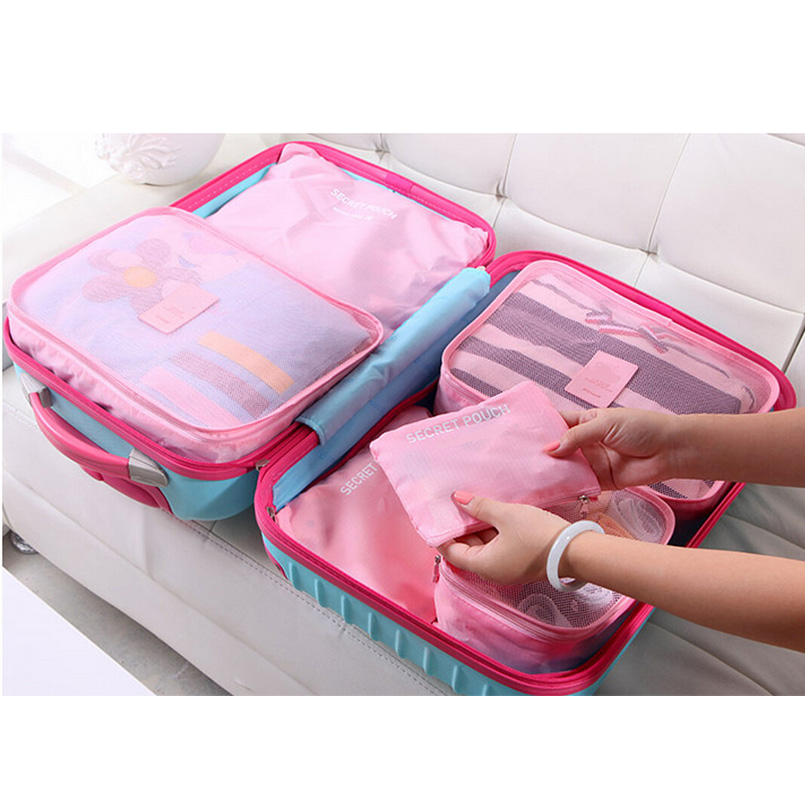 3582bfda20ca High Quality 6 In 1 Waterproof Clothes Storage Bags Packing Cube ...