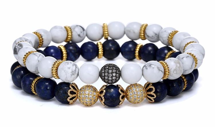 white Turquoise Beaded Bracelets
