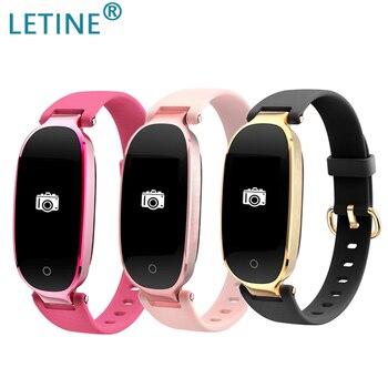Pulsera inteligente Letine para Fitness, Monitor con rastreador de actividad, banda para la muñeca, Monitor de ritmo cardíaco para iOS android VS Fit Bit