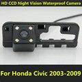 Для Honda Civic 2003 2004 2005 2006 2007 2008 2009 автомобиля CCD Ночного Видения Резервного Копирования камера Заднего Вида Водонепроницаемая Камера Парковки помощь