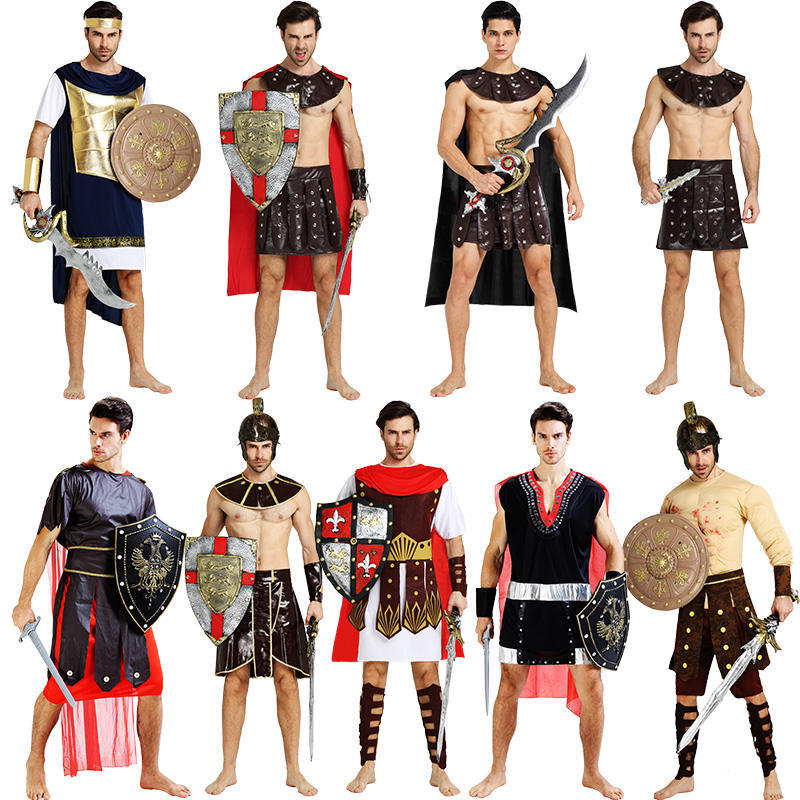 Spartan Samurai Cosplay Costume Medieval Roman Clothes Summer Dresses Women Men Halloween Party Clothing Stage Performance Suits