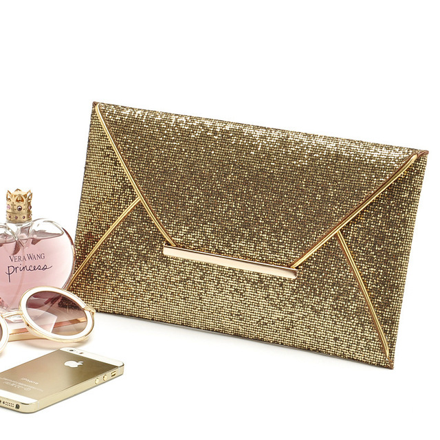 Aliexpress.com : Buy Fashion 2016 Shining Gold Designer Clutch ...