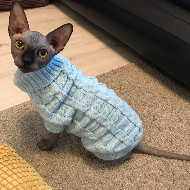 Leisure Pet Cat Sweater Winter Warm Cotton Cat Clothes For Small Cats Kitten Coat Jacket Kitty Knitted Sweaters Pet Dog Clothing