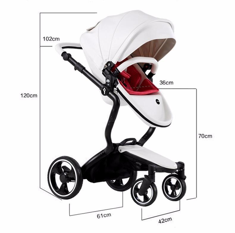 Foofoo wózka dziecięcego Wysokiej krajobrazu może zmienić na spania koszyk skóry 13