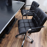 Fashion Casual Lift Chair Office Work Chair Beauty Salon Chair Black Salon Chairs Pulley Stool Styling Cotton.