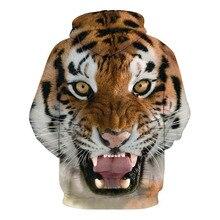 Горячие Мужчины толстовки хип-хоп толстовка забавный 3D Тигр Лев мода толстовка мужчины спортивный костюм унисекс пуловеры