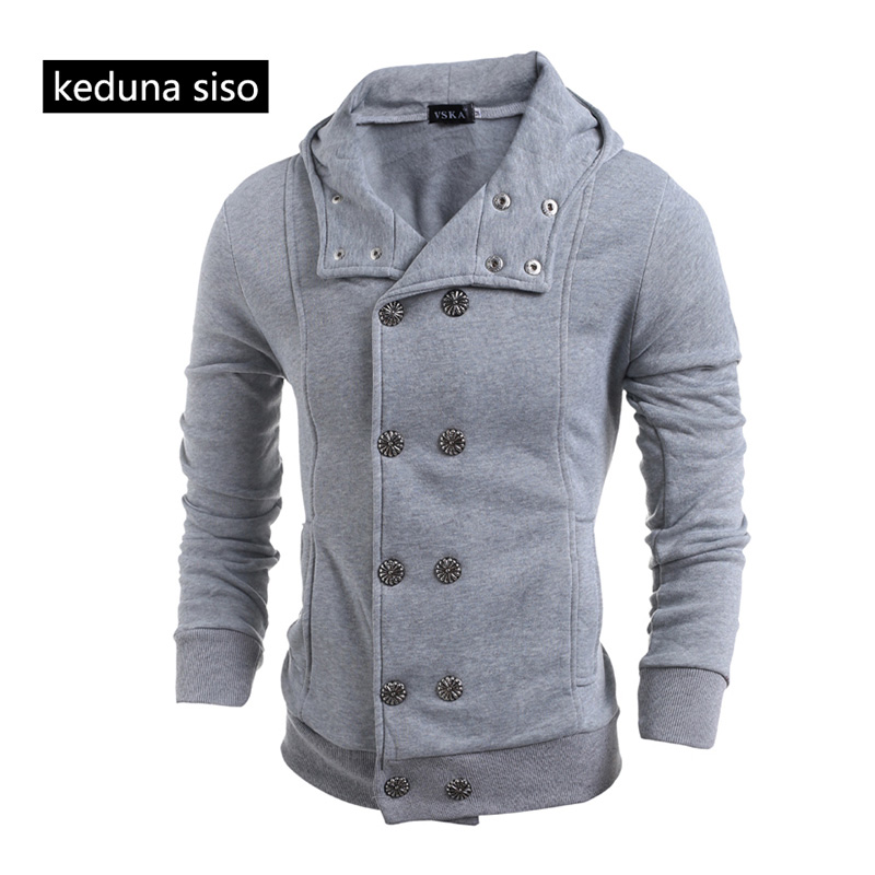 Wholesale Men's Autumn Double Breasted Cardigan Sweatshirts Hoodies assassins creed Fleece Hoodie Slim Coat Homme homens moletom
