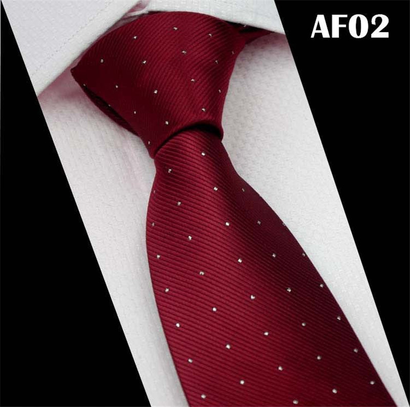 SCST 2017 New Brand Designer White Dot Print Red Silk Neck Ties For Men Tie Wedding Neckties 7cm Slim Business Necktie CR030