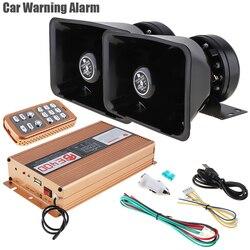 12V 400W 18 Tone głośny ostrzeżenie samochodu Alarm policja Alarm awaryjny syrena alarmowa głośnik z mikrofonem System i bezprzewodowy pilot zdalnego sterowania
