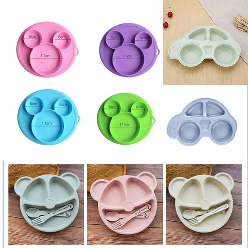 Kids Feeding Plate Baby Safe Silicone Dining Bowl BPA Free Solid Children Dishes Suction Toddle Training Tableware Dropshiping