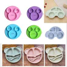 Tableware Suction Feeding-Plate Children Dishes Silicone Training Toddle Baby Bpa-Free