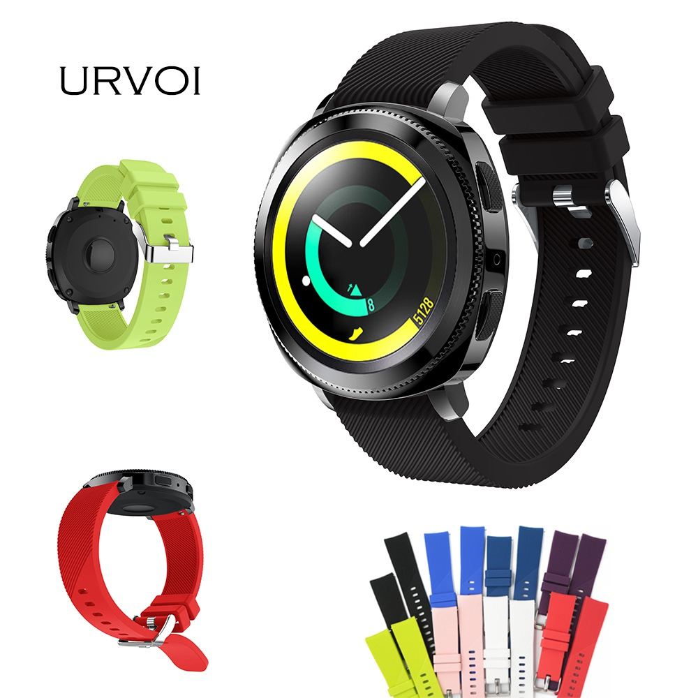 URVOI band for Samsung Gear Sport S2 classic Soft silicone sport strap with quick release pins high quality replacement 20mm 20mm width replacement outdoor sport strap for garmin fenix 5s band with quick release soft silicone wristband for garmin band
