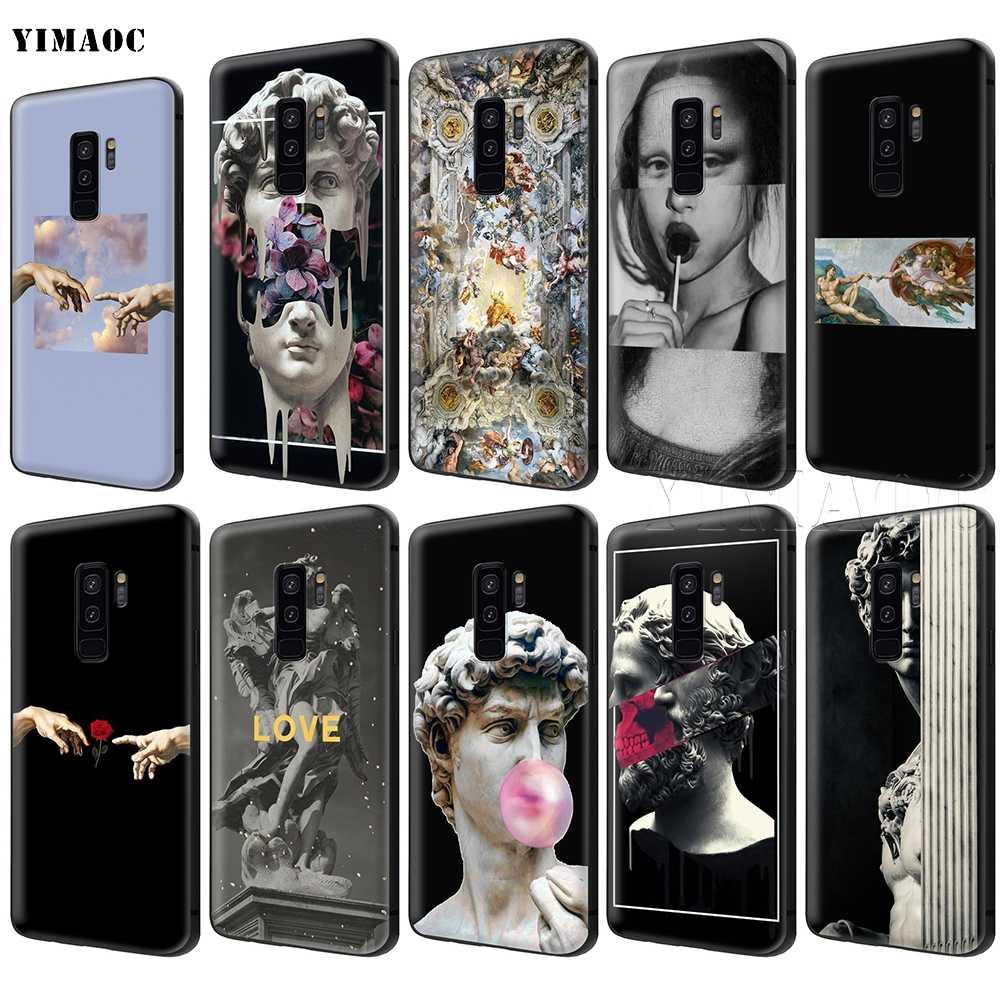 YIMAOC Michelangelo Nghệ Thuật Tượng Thẩm Mỹ Ốp Lưng dành cho Samsung Galaxy Samsung Galaxy A7 A8 A9 A10 A20 A30 A40 A50 A70 M10 M20 m30 S10 S10e J6 Plus