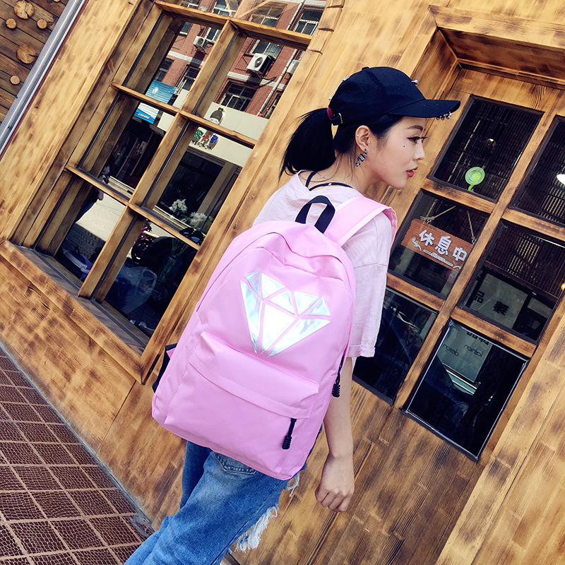 Nylon Backpack Female Schoolbag for Teenages Girls Back Pack women College Wind High School Campus Book Bag large цена