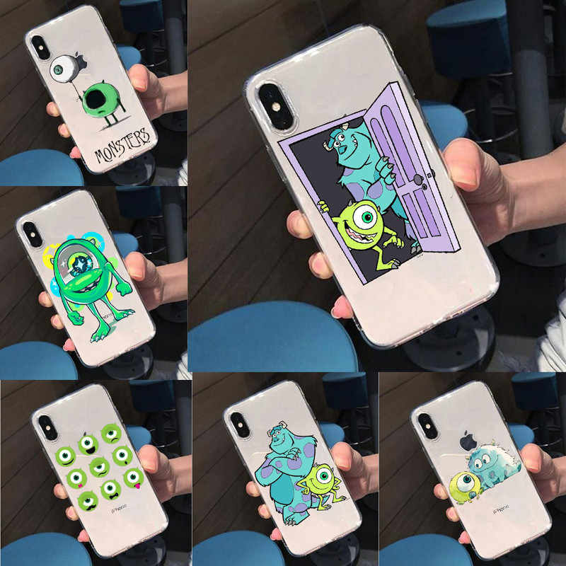 Seracase Bonito Universidade Monstros Mike Wazowski Slim Telefone Soft Case Para iPhone 5 5S SE 6 6SPlus 7 XR XS Max8 8Plus X