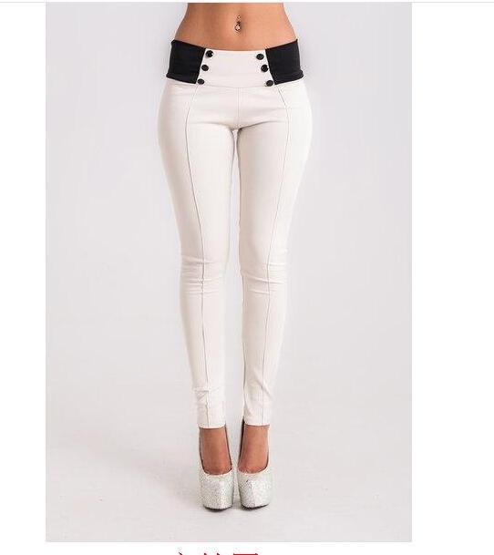 Spring  Women Vintage Slim Low Waist Pants Sexy Ladies Casual Skinny Pencil Pants Feet Bodycon Leggings Trousers