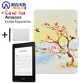 Newest  Cover Case for Amazon Kindle Paperwhite 1/2 Magnetic Closure + Wake Up and Sleep +Screen Protector + Stylus Pen