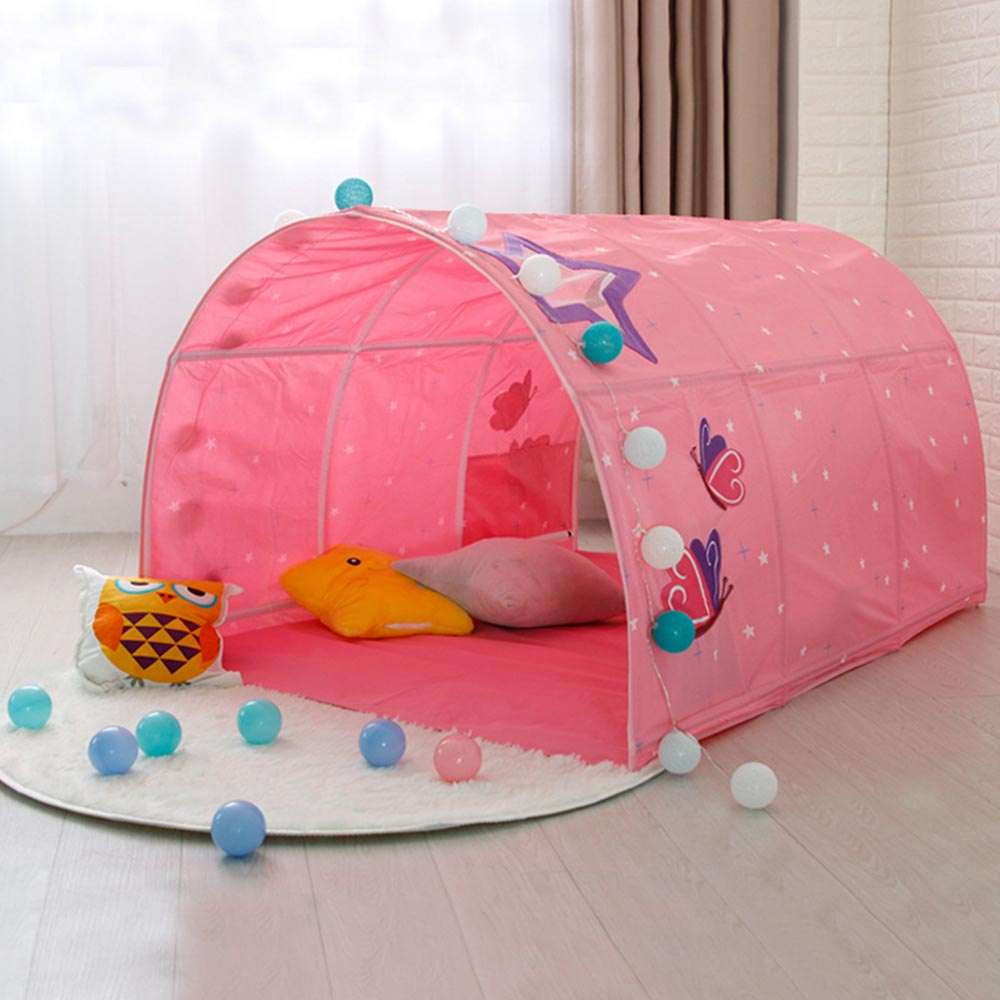 Play Tent Baby Ball Pool Tent for Kid Pink Blue Tunnel Tent for Children Beds Children