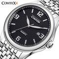 Comtex nova marca negócio relógio dos homens mostrador do relógio analógico relógio de pulso de moda movimento quartz mens relógios de calendário à prova d' água