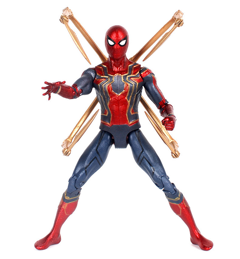 17cm Marvel the Avengers 3 Infinity War Iron Spider Man Amazing Spiderman Movable Action Figure model toys for Children gift