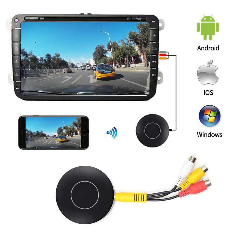 Car Auto Media DLNA Miracast Airplay Screen Mirroring Dongle HDMI AV RCA Output Video Streamer Display mini pc Android Tv stick