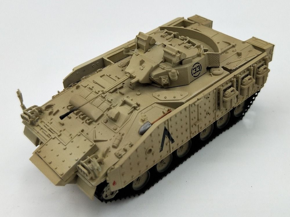 1:72 British Army MCV80 Samurai Armored Tracked Carriage Model Trumpeter 35035 Iraq War