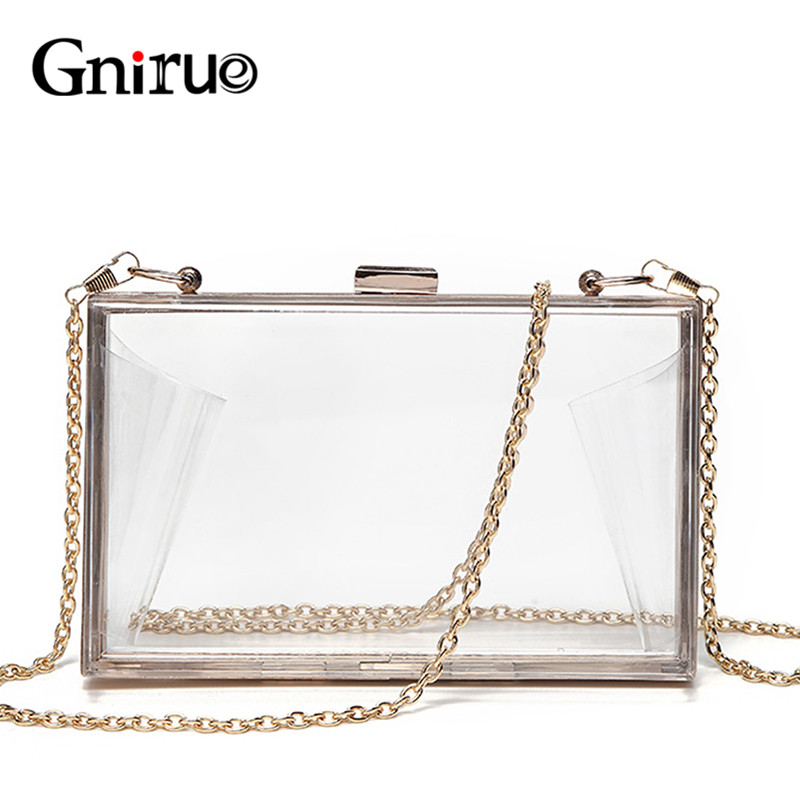 Acrylic Transparent Clutch Chain Box Women Shoulder Bags Hard Day Clutches Bags Wedding Party Evening Purse 5 Colors 2015 new arrival acrylic bow clutch bag day storage box clutch bags women handbag brand designer transparent chain women wallets