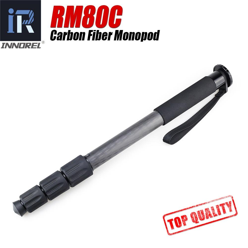 RM80C углеродного волокна монопод Превосходное качество Легкий вес продлен до Профессиональное видео монопод для камеры лучше, чем JY0506