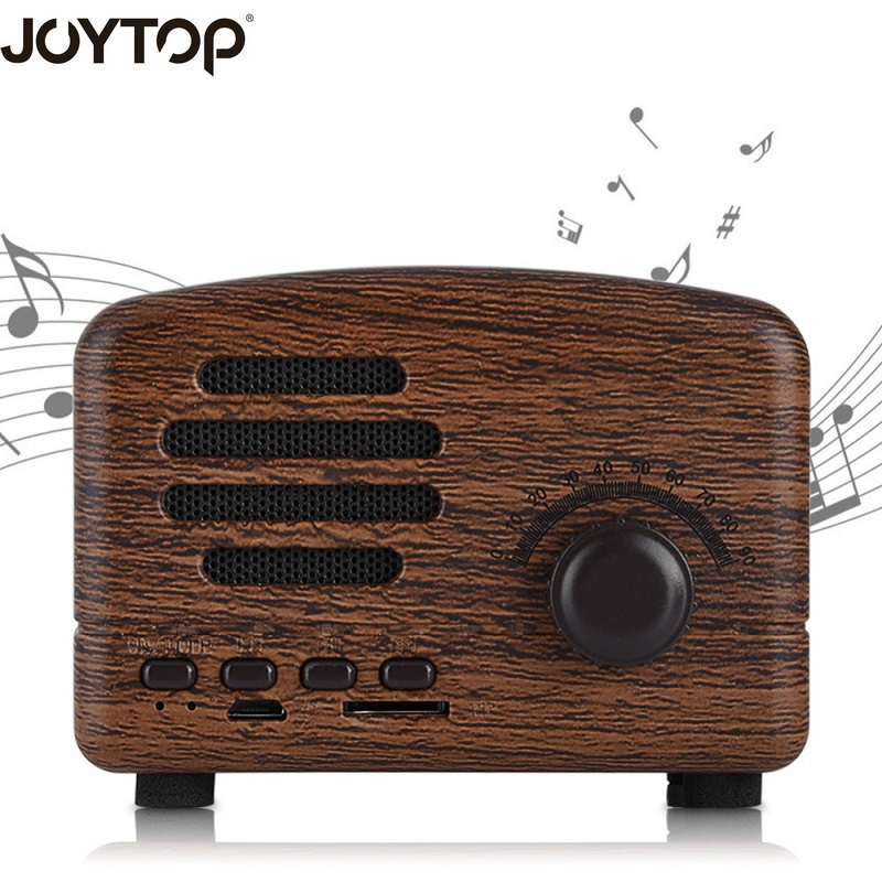 JOYTOP new Vintage Bluetooth Speaker Wireless Portable Mini speakers TF card FM Radio For Phones Speakers Computers Bluetooth tg06 mobile power wireless bluetooth speaker outdoor mini fm radio tf card portable small stereo speakers