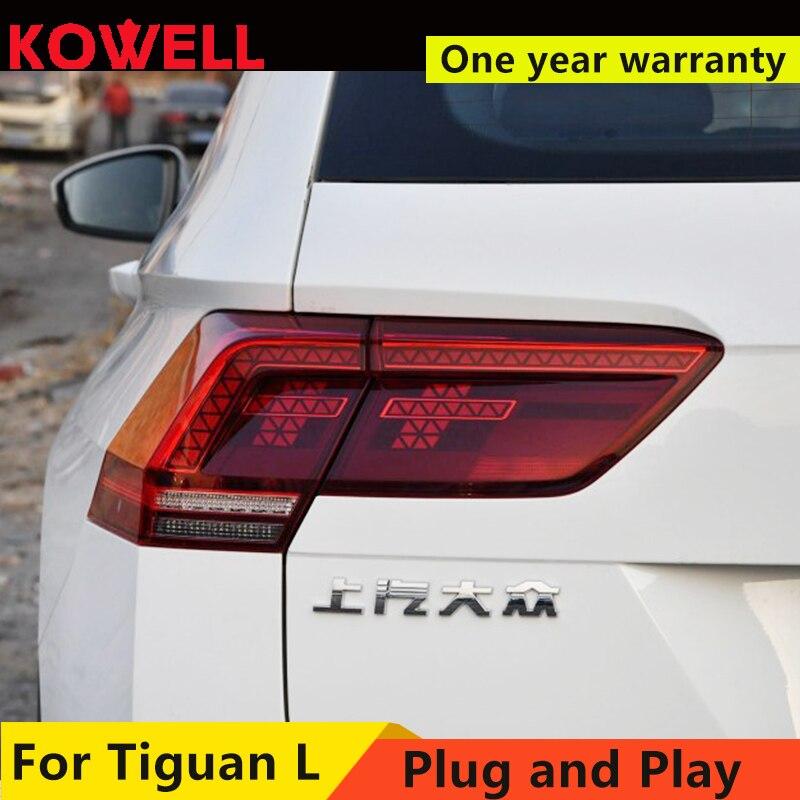 Car Lights for 2017 2018 Volks Wagen New Tiguan L LED Tail Light Rear Lamp ,update the halogen taillight DRL+Brake+Park+Signal