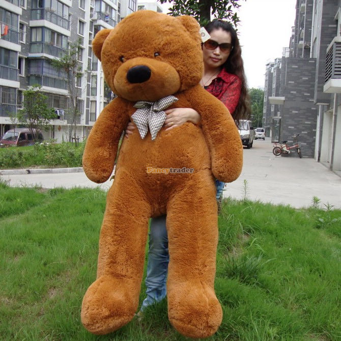 Fancytrader 63'' / 160 cm Cute JUMMBO Dark Brown Color Giant Plush Stuffed Teddy Bear Free Shipping Accept Dropshipping FT90059 fancytrader 39 100cm giant plush lovely rubber duck cute birthday present gift and decoration free shipping ft50007