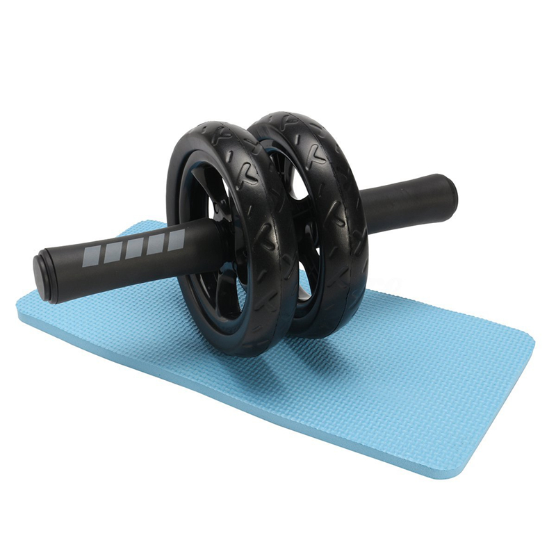 NK SUPPORT No Noise Abdominal Ab Wheels Roda Abdominal Exercise Rollers With Mat For Exercise Fitness Equipment Muscle Trainer