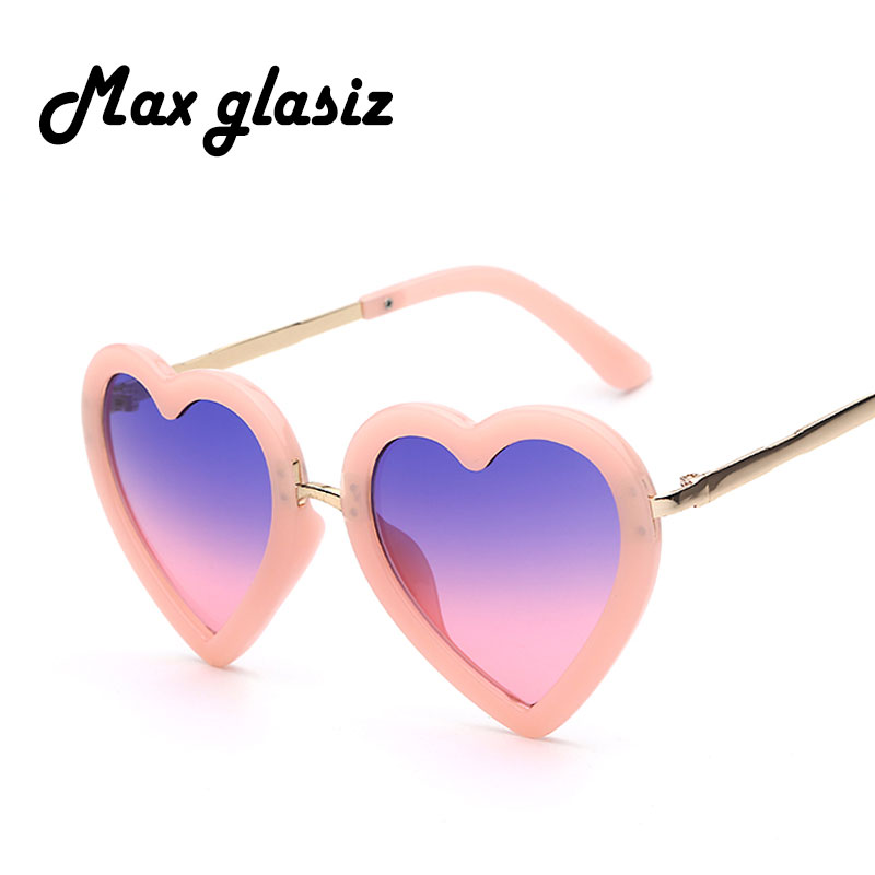 Children Kids Sunglasses Fashion Heart Shaped Cute UV400 Designer Frame Eyewear Baby Girls Sunglasses Sun Glasses Oculos De Sol high fashion transparent sunglasses women brand designer glasses spectacles reflective mirror sun glasses lentes de sol mujer