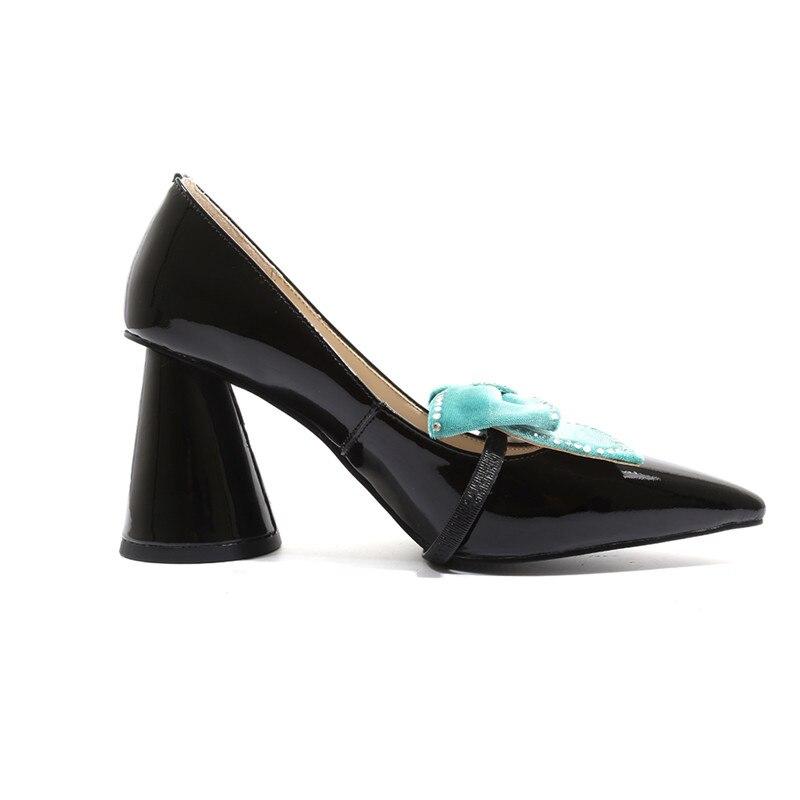 ASUMER 2019 offre spéciale nouvelles chaussures femme bout pointu pompes peu profondes femmes chaussures en cuir véritable classique bal de mariage chaussures femmes-in Escarpins femme from Chaussures    2