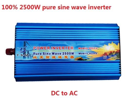 free shipping Peak Power 5000W 2500W Pure Sine Wave Inverter DC 12V 24V 36V 48V TO