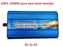 2013 NEW 2500W Pure Sine Wave Inverter DC 12V/24V TO AC 100V/110V/120V 220V/230V/240V Power Inverter цены