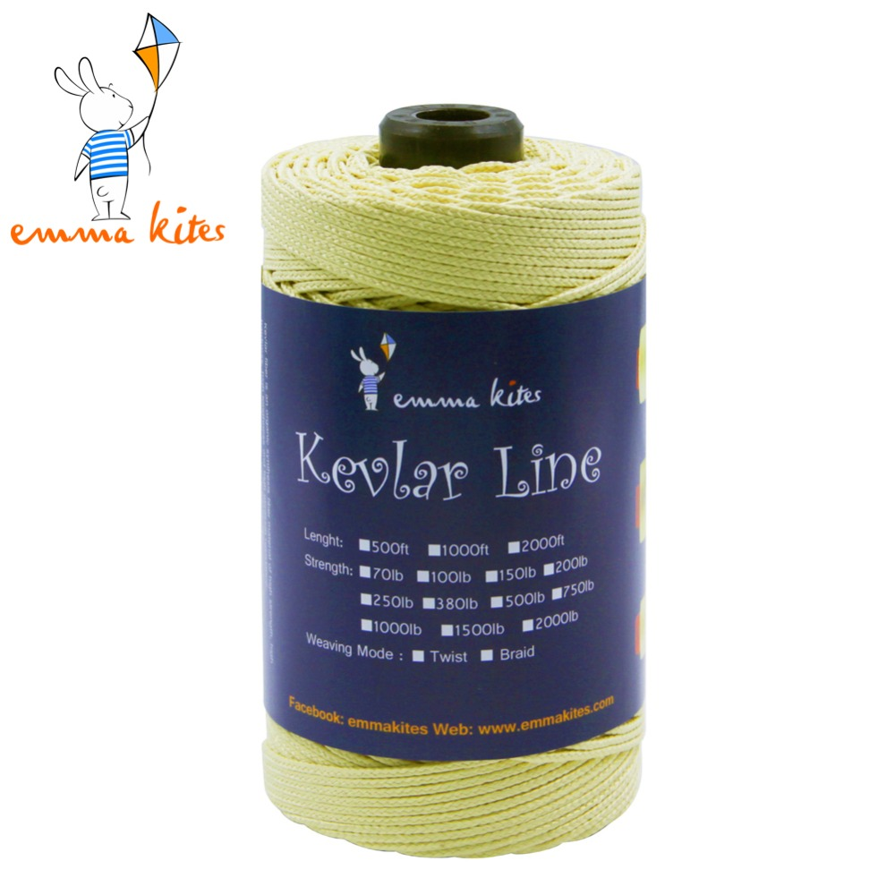 Strong Kite Line 300ft 1000lb Braided Kevlar Line Kite String 2.5mm Outdoor Sport Camping Fishing Line
