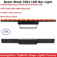 LED Wash Beam Light 12X3W CREE LEDS Warm White DMX Bar Lights Indoor Use Running Horse Functions DMX512 Good Effect DJ Equipment
