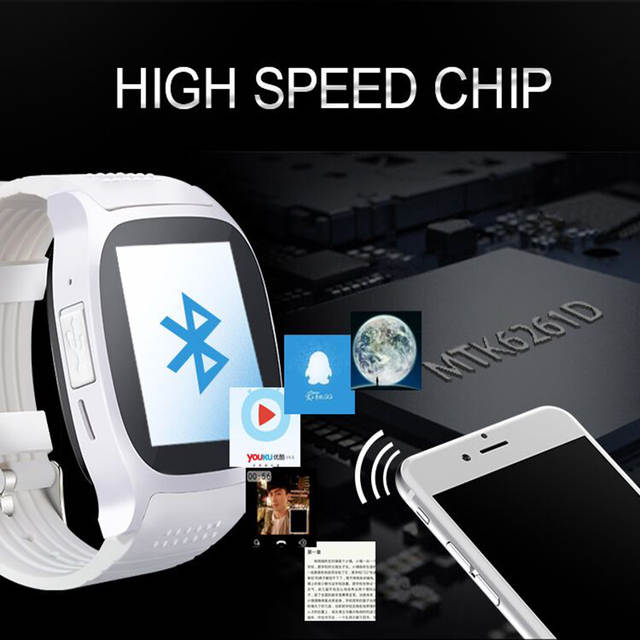 Hot Sell T8 support card SIM card Bluetooth 4 0 smart sports swatch smart  wearable device Android system smart watch