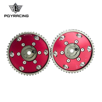 PQY RACING-regulowany CAM biegów koła zębate koło pasowe do BMW E21 E28 E30 E34 E36 318i (2 sztuk) czerwony PQY6537R