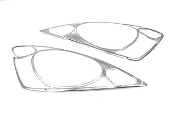 Wysokiej jakości chromowany głowy światła pokrywa dla Honda Jazz Fit 09 Up darmowa wysyłka