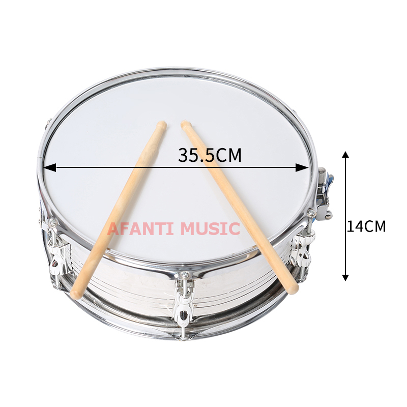 14 inch  Afanti Music Snare Drum (SNA-117-14) 13 inch double tone afanti music snare drum sna 109 13