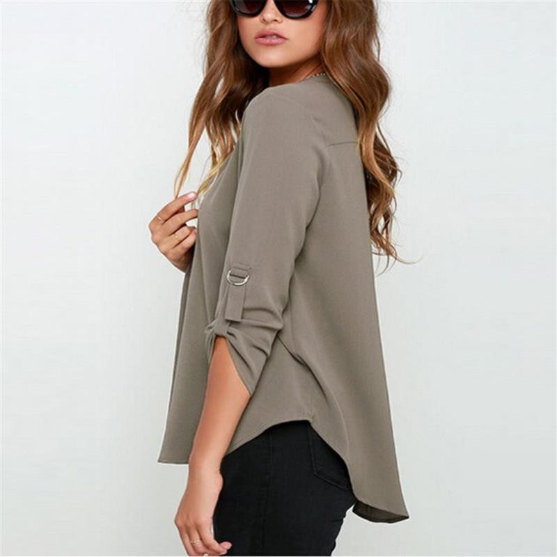 Fashion Brand Blouse Shirt V Neck Sexy Plus Size Cheap Clothes China Blusas Feminina Clothing Summer Women Tops Pullover Blouses 4