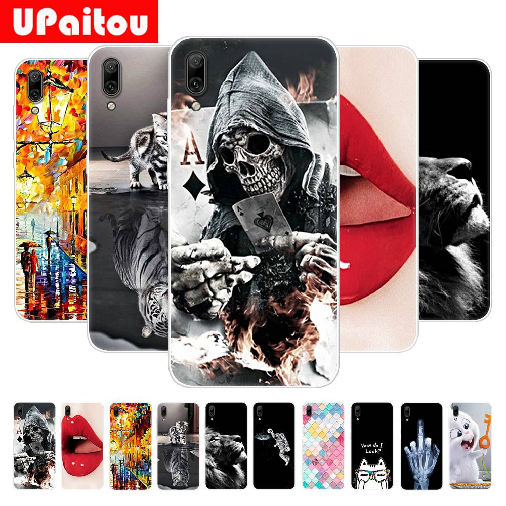 UPaitou Colorful Painting Case for Huawei Y7 Prime Y6 Pro Y9 2019 Case Soft TPU Ultra Thin Back Cover New Type Phone Case