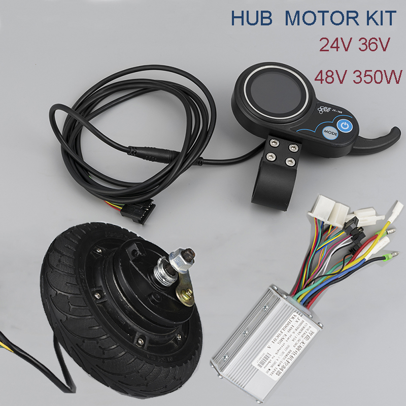 DC Motor 24V 36V 48V 350W Brushless Hub Motor kiti 8inch Wheel Motor With LCD Display Meter Electric Scooter Bike Conversion Kit стоимость