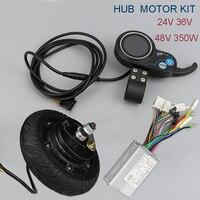 DC Motor 24V 36V 48V 350W Brushless Hub Motor kiti 8inch Wheel Motor With LCD Display Meter Electric Scooter Bike Conversion Kit