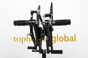 For Yamaha YZF R1 2004 2006 2005 Black CNC Rearsets Foot Pegs Rear Set cle footpeg Motorcycle