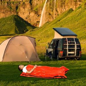 Image 5 - 新しい高品質軽量キャンプ寝袋屋外緊急寝袋巾着袋キャンプ旅行ハイキング